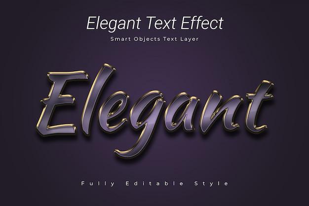 Элегантный текстовый эффект Premium Psd