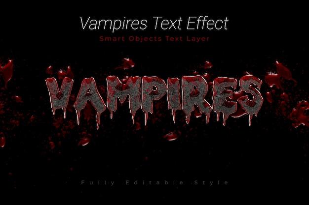 Текстовый эффект вампиров Premium Psd
