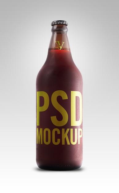 モックアップレッドエールビールラベル Premium Psd