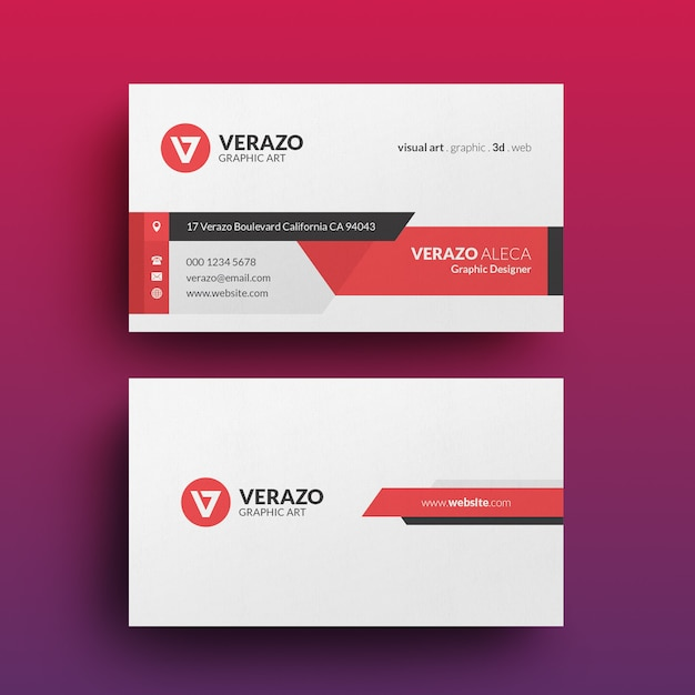 Современный корпоративный шаблон визитной карточки Premium Psd