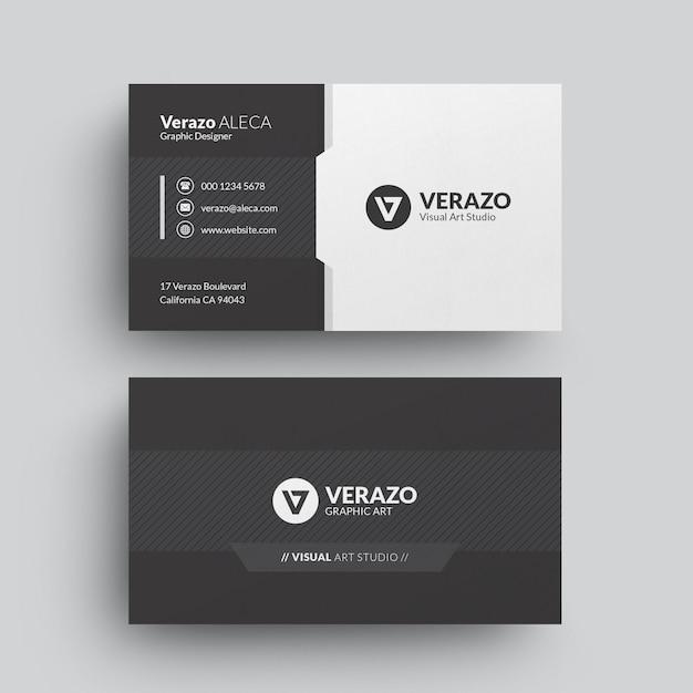 Современный шаблон визитной карточки Premium Psd
