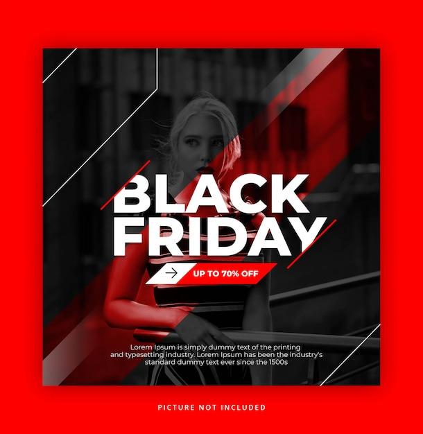 ブラックフライデーインスタグラムテンプレート Premium Psd