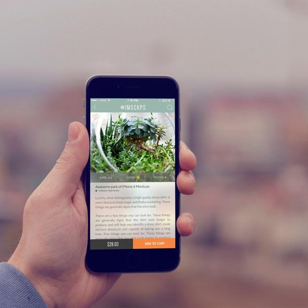 携帯電話の画面には、デザインのモックアップ 無料 Psd