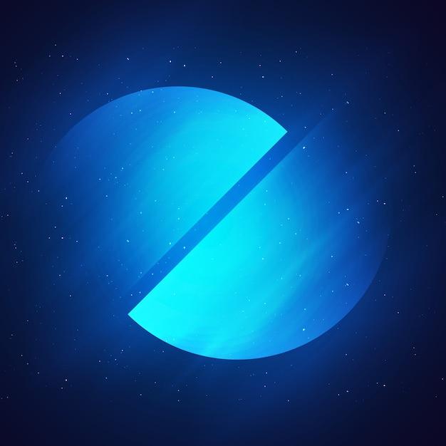 抽象的な青い背景 無料 Psd