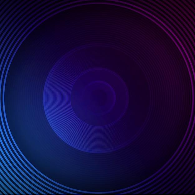 青い丸の背景 無料 Psd