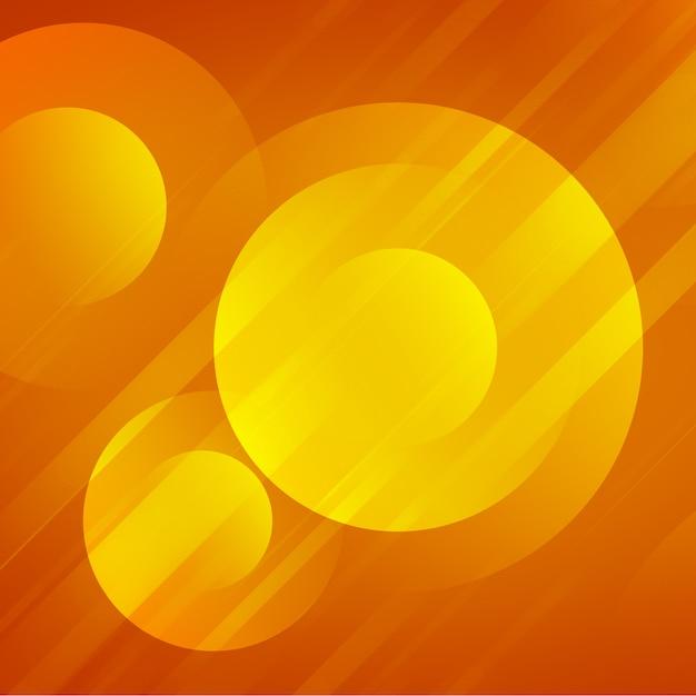 黄色の輝く円の背景デザイン 無料 Psd