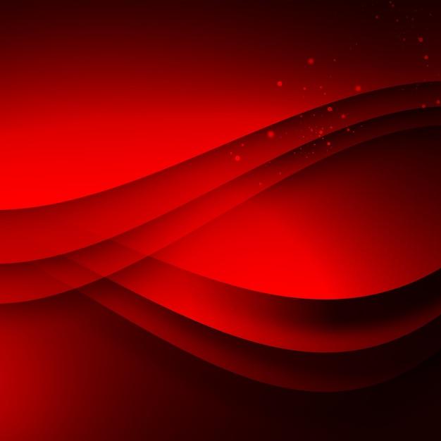 赤い波状の背景 無料 Psd