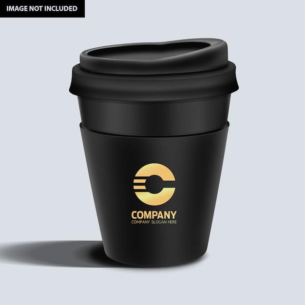 Темная кофейная кружка макет Premium Psd
