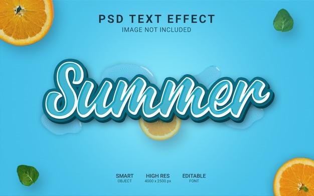 夏のテキスト効果 Premium Psd