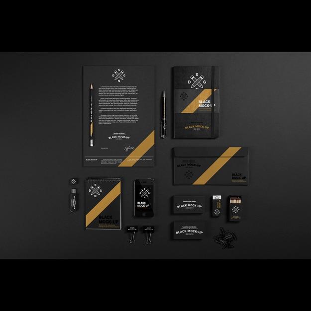 ビジネスステーショナリーデザインのモックアップ 無料 Psd