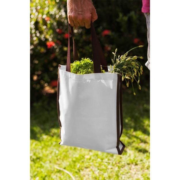 トートバッグは、デザインのモックアップ 無料 Psd
