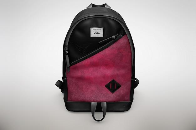 ピンクと黒のバッグパックがモックアップ 無料 Psd