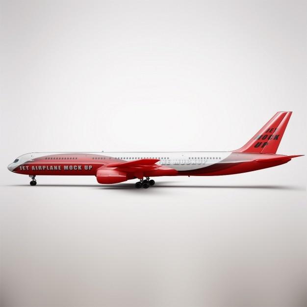 Реалистичная презентация самолета Бесплатные Psd