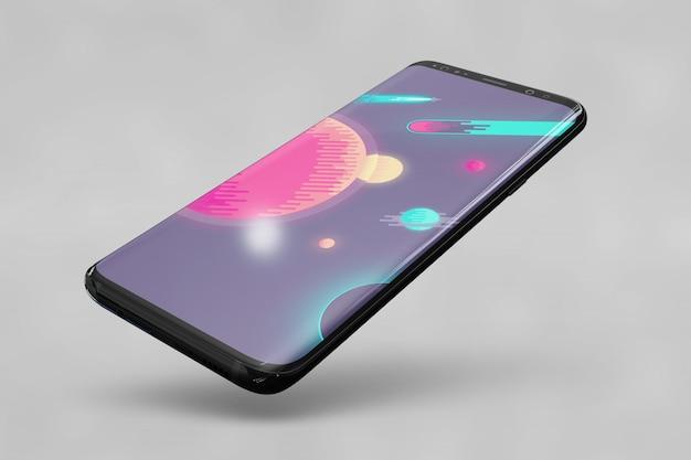Блестящий макет смартфона Бесплатные Psd