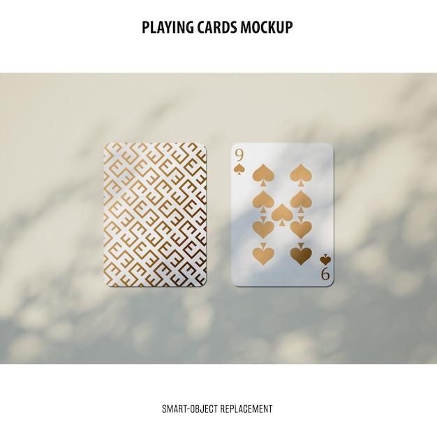 Макет игральных карт Бесплатные Psd