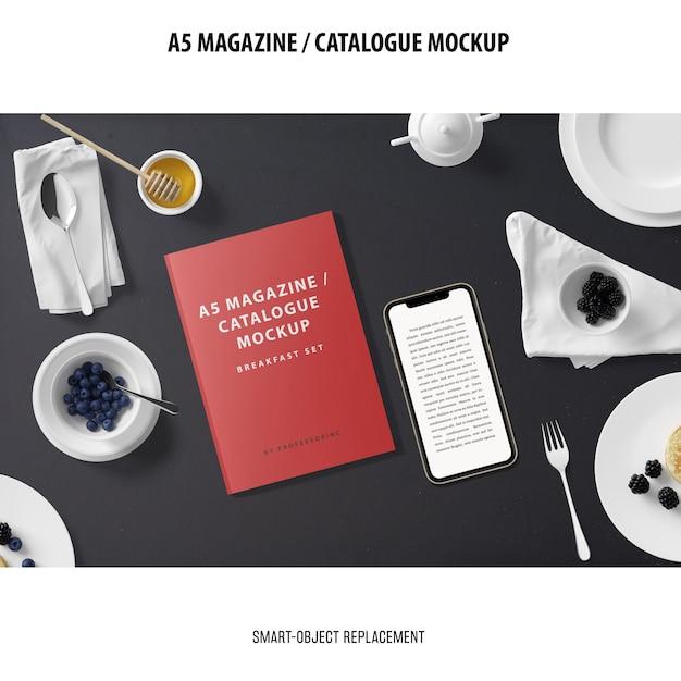 Журнал каталог макет Бесплатные Psd