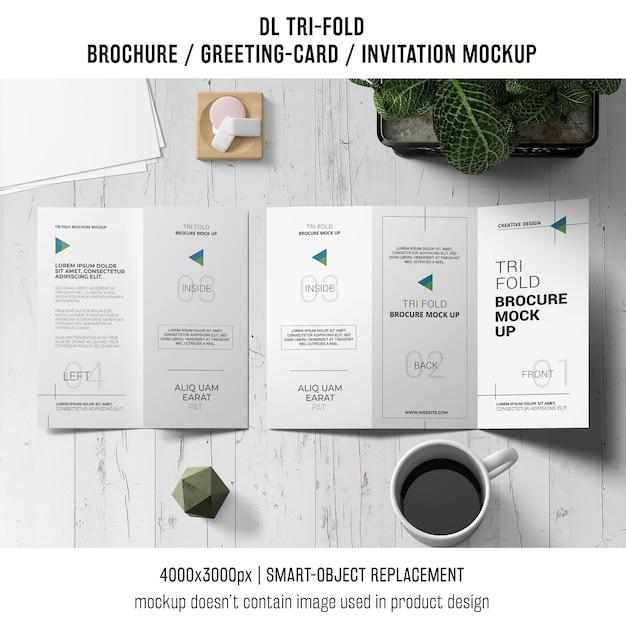 Трехмерная брошюра или макет натюрморта приглашения Бесплатные Psd