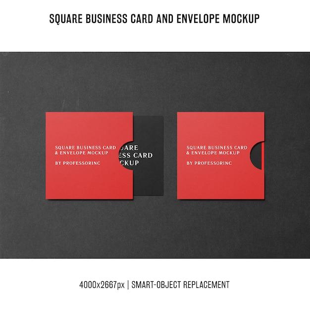 Квадратный макет визитки Бесплатные Psd
