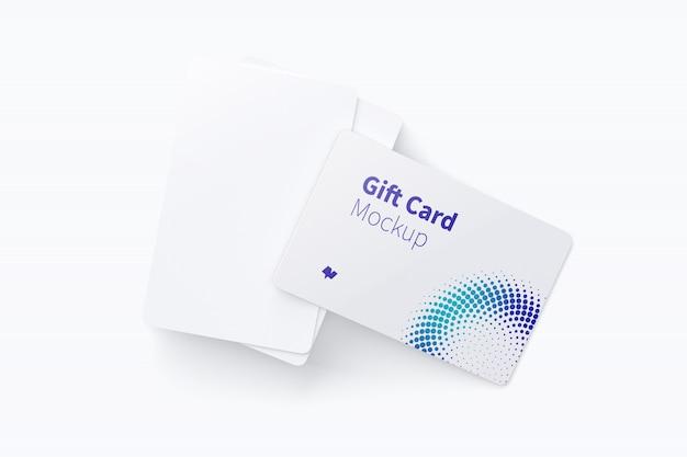 ギフトカードのモックアップ Premium Psd