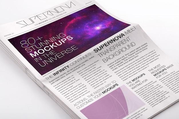 Газета макете дизайн Premium Psd