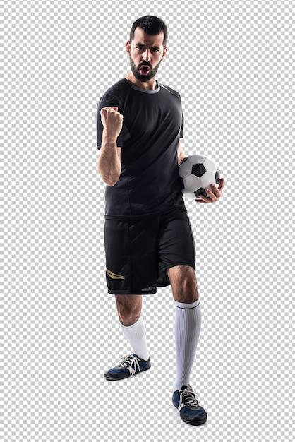 幸運なサッカー選手 Premium Psd