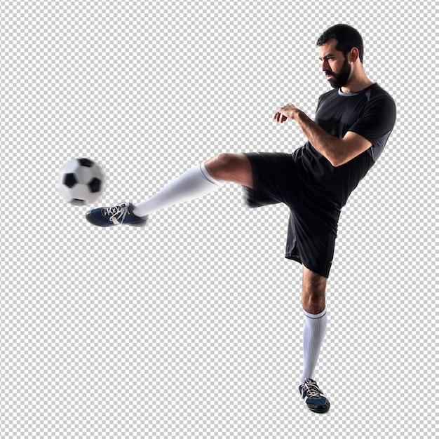 男はサッカーをする Premium Psd