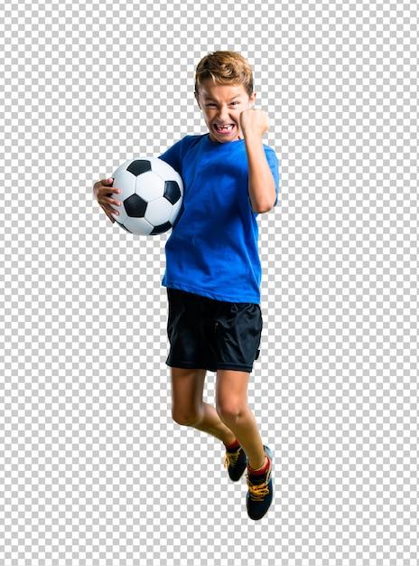 少年サッカーとジャンプ Premium Psd