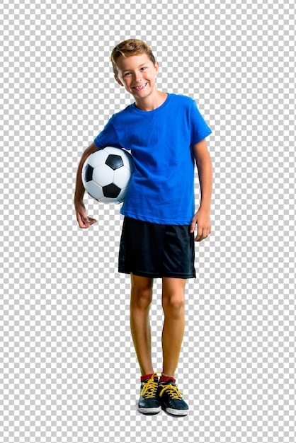 サッカーをしている少年 Premium Psd