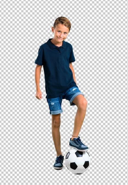 サッカーをしている小さな子供 Premium Psd