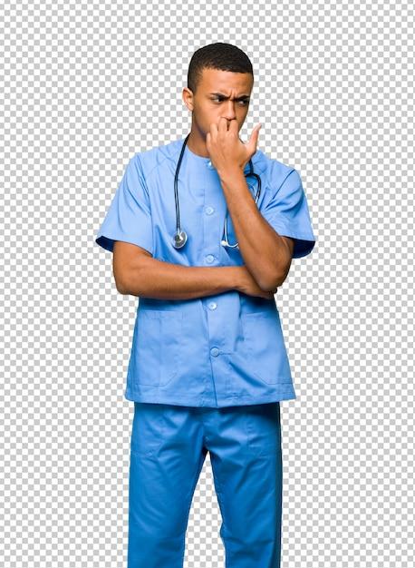 Хирург врач человек, имеющий сомнения Premium Psd