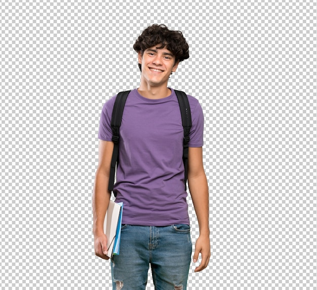 Молодой студент человек много улыбается Premium Psd