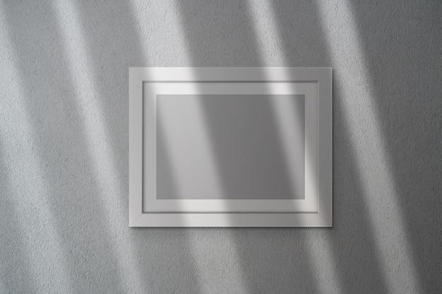 影付きの空白のフレームモックアップ Premium Psd