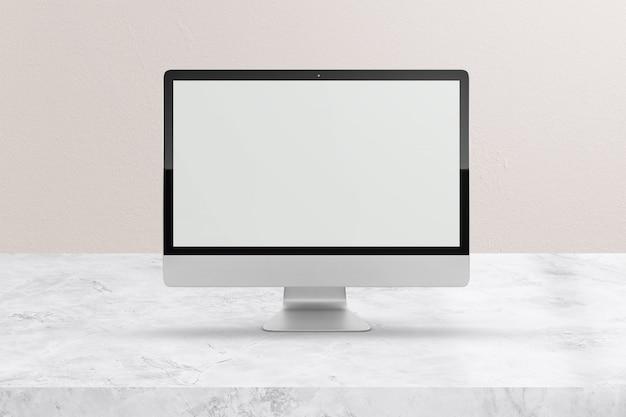 Современный настольный компьютер макет экрана Premium Psd