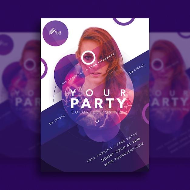 クリエイティブパーティーのポスター Premium Psd