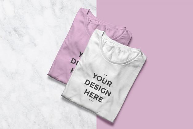 Чистые футболки витрины макеты Premium Psd