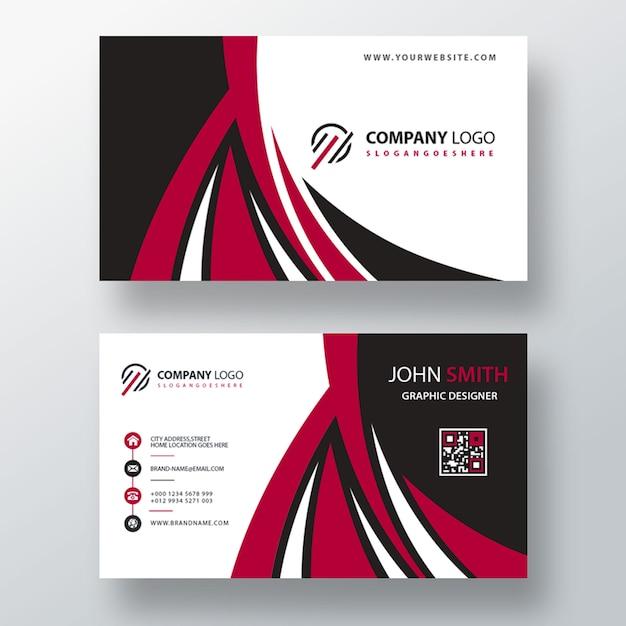 Красный шрифт и задняя визитка Бесплатные Psd