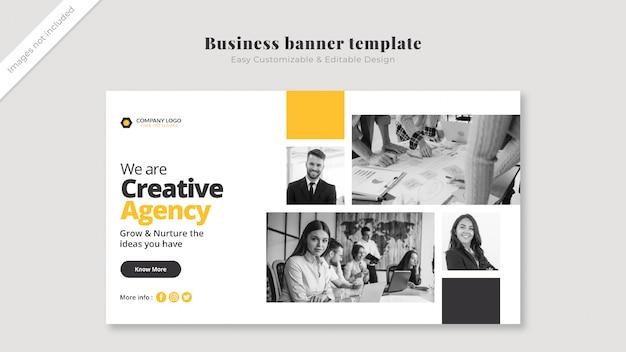 Бизнес обложка макет с изображениями Premium Psd