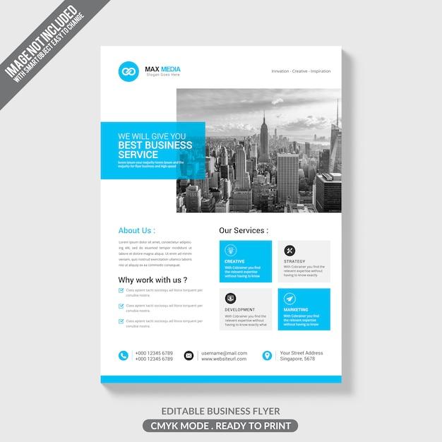 Макет бизнес-брошюры Premium Psd