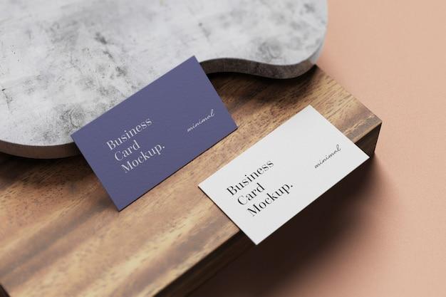 Минимальный макет визитки Premium Psd