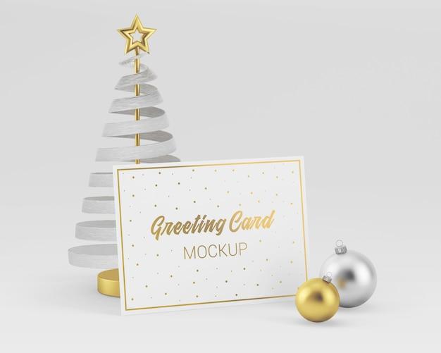 Веселая рождественская открытка макет Premium Psd