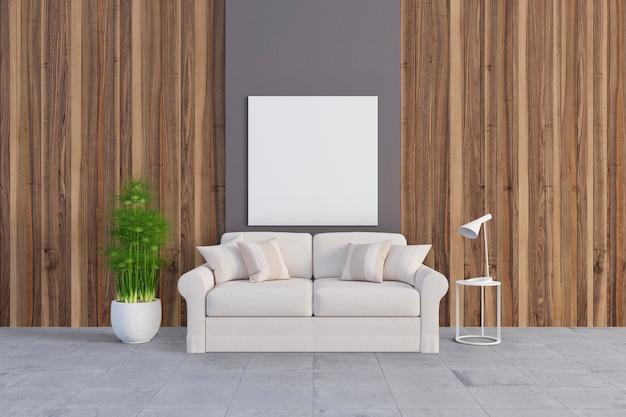 Комната с милым диваном Premium Psd