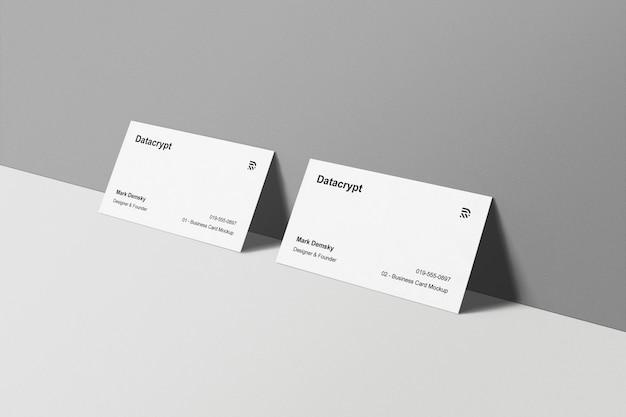Визитные карточки макет постоянная стена Бесплатные Psd