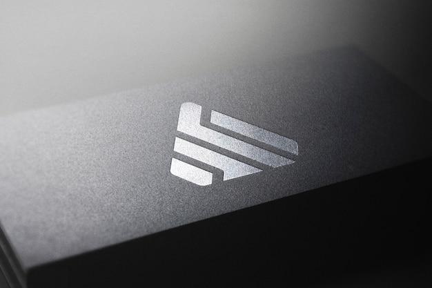 Черный визитная карточка логотип макет Premium Psd