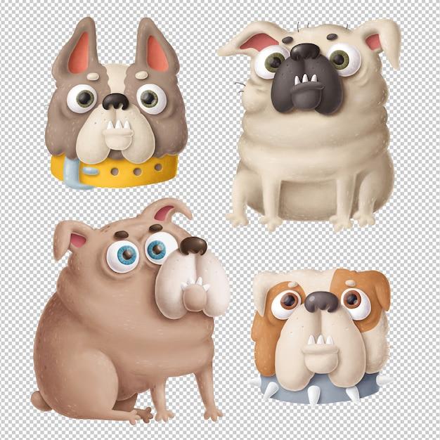 漫画の犬のクリップアート Premium Psd