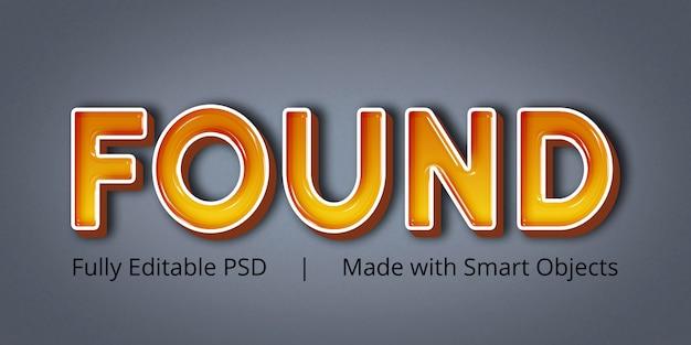 編集可能なテキストスタイル効果が見つかりました Premium Psd