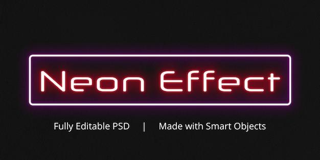 ネオン効果テキストスタイル効果 Premium Psd