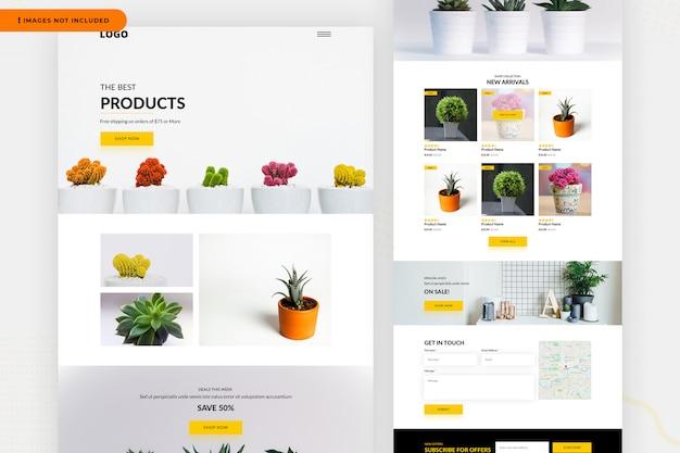 Шаблон страницы сайта продуктов Premium Psd