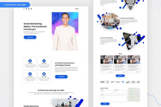 Целевая страница маркетингового сайта Premium Psd