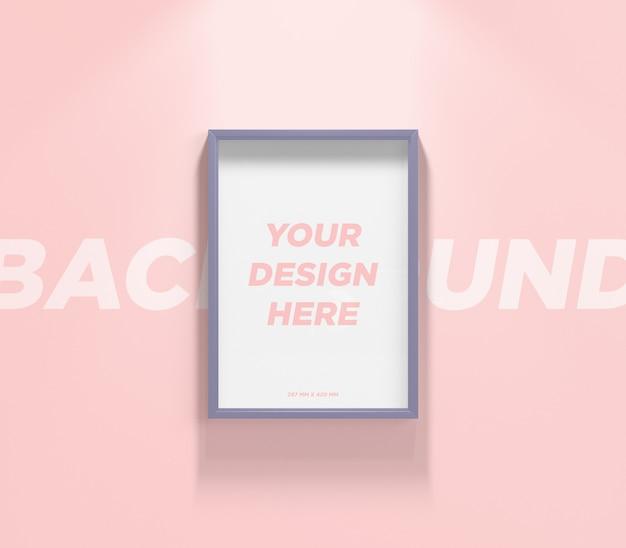 ポスターまたはフォトフレームの壁のモックアップ Premium Psd