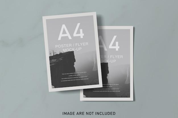 柔らかな色のポスターモックアップ Premium Psd